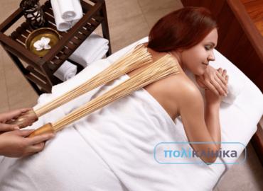 Інструментальний масаж бамбуковими віниками (самурайський)